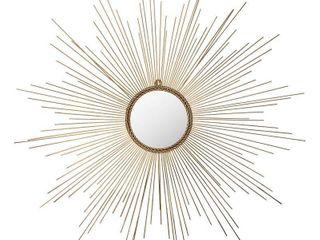 Sunburst Izzy Decorative Wall Mirror Gold   Safavieh