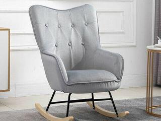Dark grey leisure rocker chair