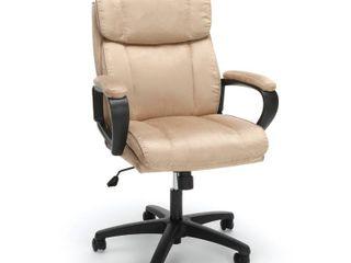 Plush microfiber office chair