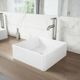 VIGO Dianthus Matte Stone Vessel Sink