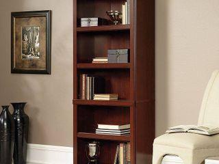 Sauder Heritage Hill 5 Shelf library Bookcase  Classic Cherry Finish