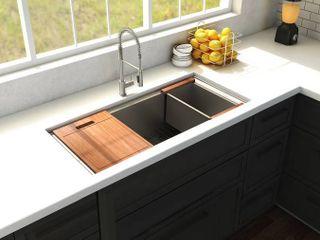 Zline Farmouse Style Kitchen Sink w  Accessories
