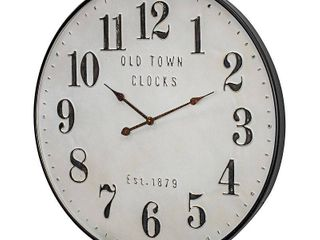 Old Town Clocks Vintage Oversized Metal Wall Clock