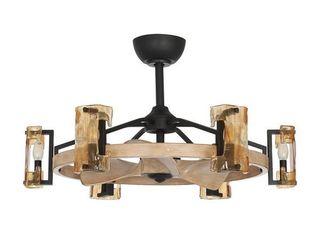 Wooden Reversible 3 Blade Ceiling Fan w  Remote