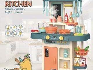 Modern Kitchen Steam Water light Sound Kids Toy