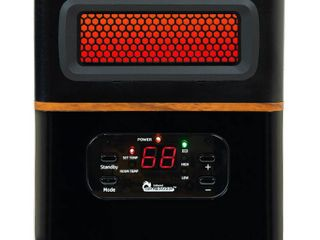Dr  Infrared Heater 1500W Dual Heating Hybrid PTC  amp  Infrared Space Heater