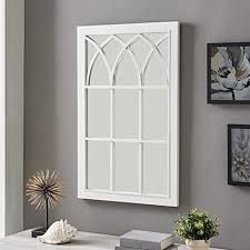FirsTime  amp  Co  Grandview Arched Farmhouse Window Mirror