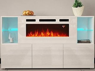 Komi WHO3 Modern Electric Fireplace  INCOMPlETE ITEM
