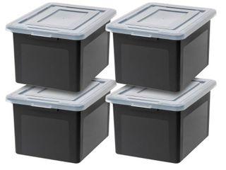 IRIS USA letter  amp  legal Size File Box 4 PACK SEE DESCRIPTION