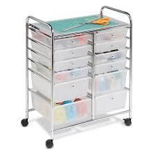 Rolling Storage Cart  amp  Organizer w  Plastic Drawers