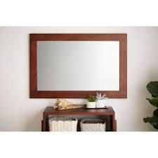 Tioga Rectangle Wood Wall Accent Mirror