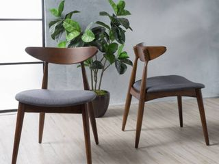 Carson Carrington lund Mid Century Dining Chairs SET OF 2