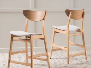 Carson Carrington lund Wood Counter Stools SET OF 2