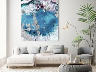Oliver Gal Muted Crystals Abstract Wall Decor