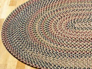 Forester Multicolored Wool Oval Area Rug