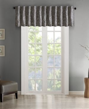 Faux Silk Embroidered Blackout Window Valance