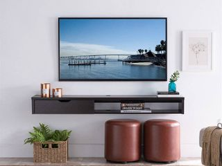 Furniture of America Johnson Wood Floating TV Stand