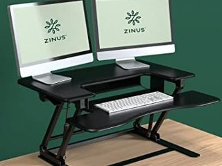 Zinus Smart Adjust Standing Double Desk Workstation