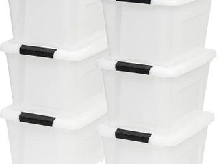Plastic Storage Containers SET OF 6 SEE DESCRIPTION