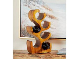 Natural Acacia Wood Wine Rack