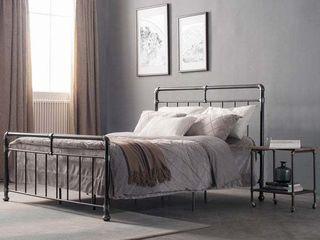 Carbon loft Meitner Vintage Metal Bed   Queen