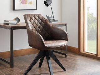 Art leon Classical Swivel Office Accent Arm Chair