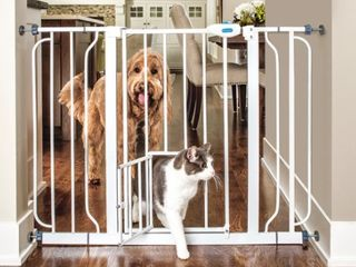 Carlson Pet Products Extra Tall Walk Through Gate w  Small Pet Door
