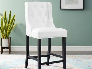 Baronet Tufted Button Faux leather Counter Stool