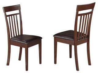 Faux leather Upholstered Capri Slat Back Chairs SET OF 2