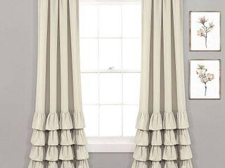 lush Decor Allison Ruffle Window Curtain Panels SET OF 2
