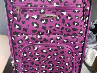 Rockland Rolling leapord Print Suitcase