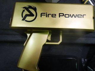Fire Power Money Gun with Artificial Money