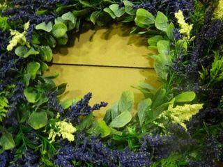 Artificial lavender Wreath