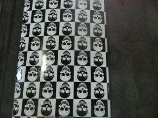 Black and White Skull EX Skateboard