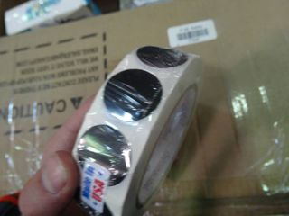 Roll of Black Stickers