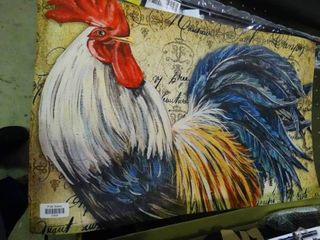Rooster Decorative Mat