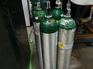 lot of Compressed Oxygen Tanks