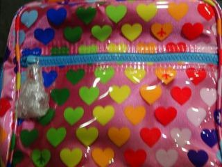 Rainbow Heart Make Up Bag