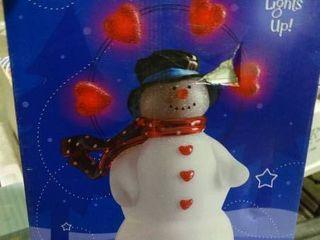 Hallmark light Up Acrylic Snowman