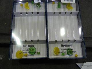 Set of 4 Swizzle Sticks
