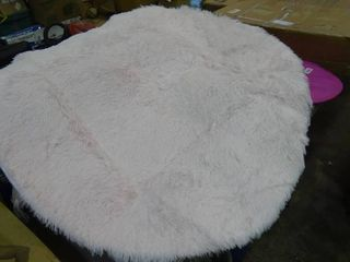 Round Faux Fur Rug