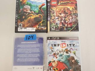 Disney Infinity  Disney Infinity 2 0  Indiana Jones lego   Up PS3 Games