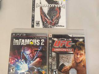 UFC 2009 Undisputed  Infamous 2  Prototype PS3 Games