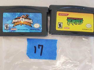Nintendo DS  DS lite  Game Cartridges  Ninja Turtles  Power Rangers