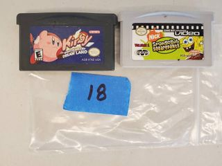 Nintendo DS  DS lite  Game Cartridges  Sponge Bob  Kirby