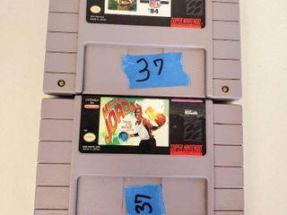 Super Nintendo Games  Michael Jordan  Madden Nfl 1994