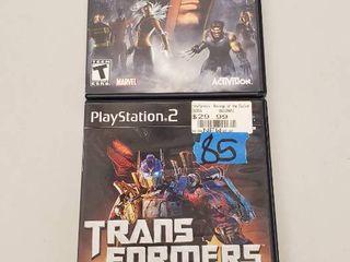 Transformers   X Men legends Playstation 2 Games