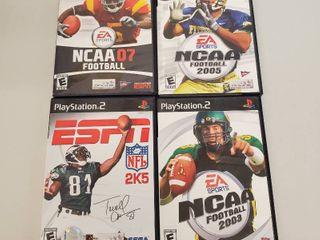 NCAA Football 07  NCAA Football 2005  NCAA Football 2003  Espn 2K5 Playstation 2 Games
