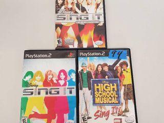 Disney Sing It  Disney Sing It Pop Hits  Disney Highschool Musical Sing It Playstation 2 Games