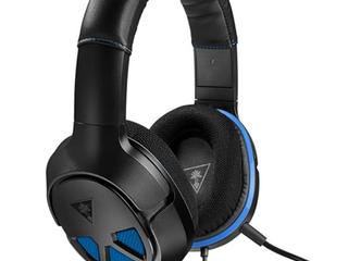 RECON EAR FORCE HEADPHONES  BlACK   BlUE
